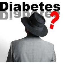 Uomo di spalle e diabete.
