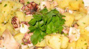 Polpo all'insalata con patate